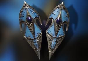 Bouclier elfique bleu ancien