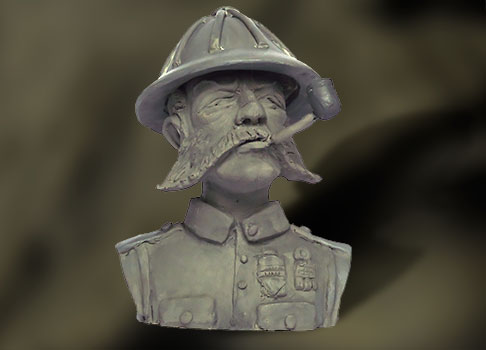 bust of Lord Cockswain