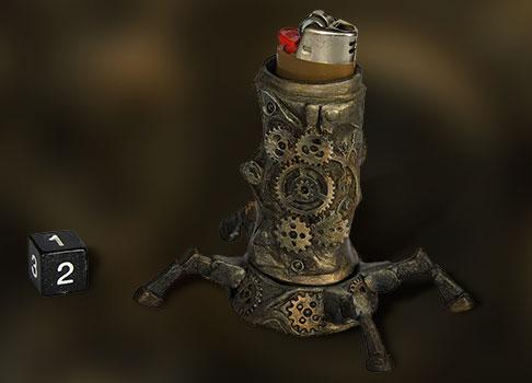 Porte briquet steampunk