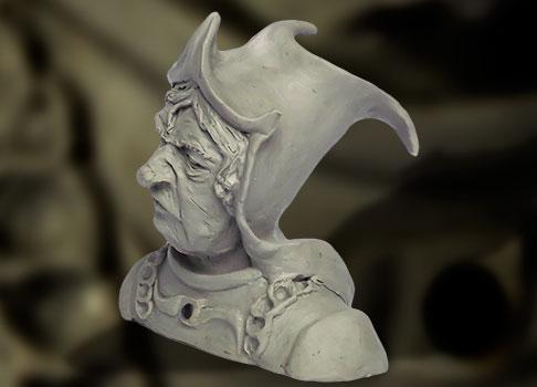 sculpture bouffon médiéval