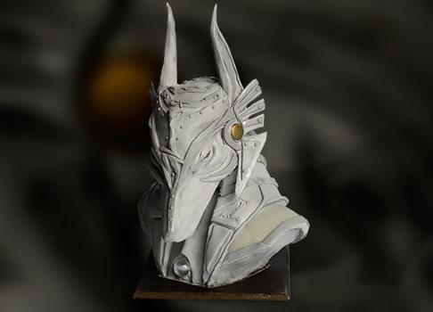 sculpture buste anubis