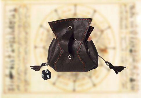 bourse en cuir alchimiste