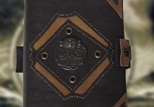 un couvre livre celtique, série unique