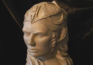 buste d'elfe en argile